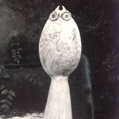 scultura di argilla zoomorfa