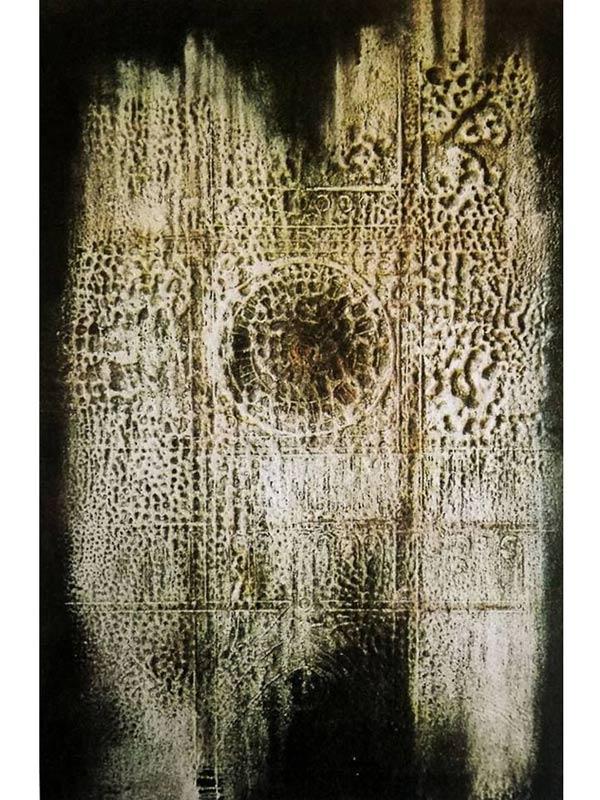 quadro olio e sabbia