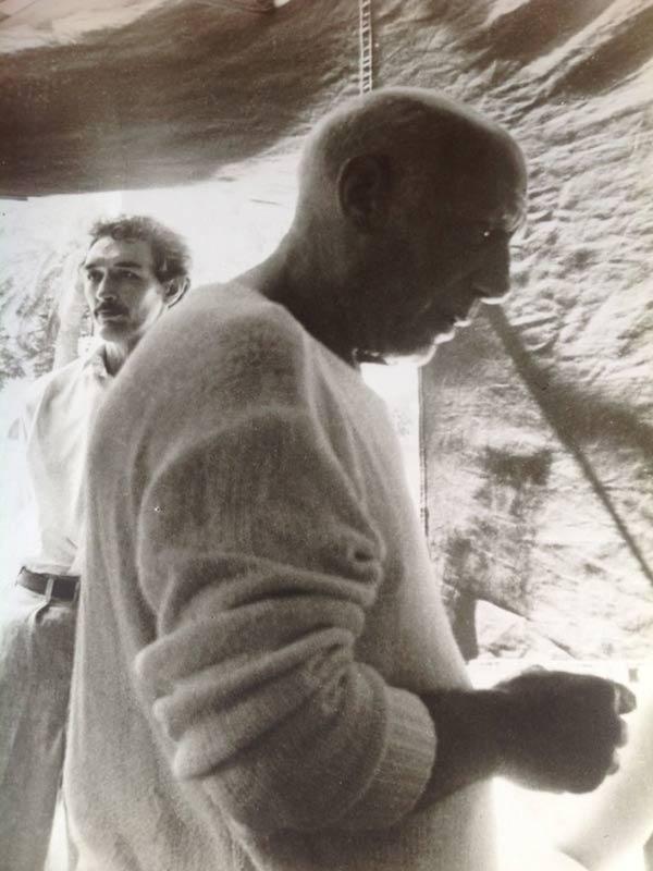 Foto di Picasso insieme a Franco Cardinali